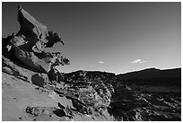 Hobgoblins Playground, afternoon. Gold Butte National Monument, Nevada, USA ( black and white)