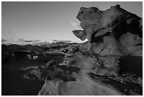 Little Finland, sunset. Gold Butte National Monument, Nevada, USA ( black and white)