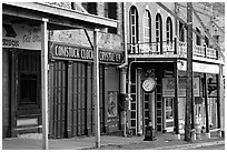 Old storefronts. Virginia City, Nevada, USA ( black and white)