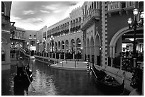 Interior of the Venetian casino. Las Vegas, Nevada, USA (black and white)