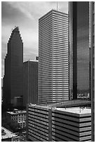 Skyline District. Houston, Texas, USA ( black and white)