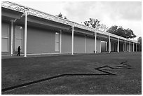 Main Menil Collection building. Houston, Texas, USA ( black and white)