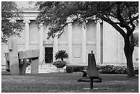 Sculpture garden, Museum of Fine Arts. Houston, Texas, USA ( black and white)