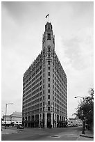 Emily Morgan hotel. San Antonio, Texas, USA ( black and white)
