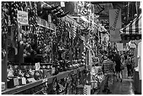 Market Square mexican shopping district. San Antonio, Texas, USA ( black and white)