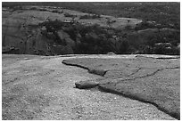 Granite slabs from top of Enchanted Rock. Texas, USA ( black and white)