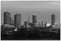 Skyline. Fort Worth, Texas, USA ( black and white)