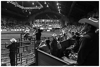 Cowtown coliseum Stokyards Rodeo. Fort Worth, Texas, USA ( black and white)