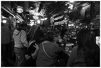 Inside White Elephant bar. Fort Worth, Texas, USA ( black and white)
