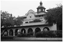 Forth Worth live stock exchange. Fort Worth, Texas, USA ( black and white)