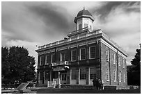 Historic Council Hall. Utah, USA ( black and white)