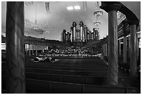 Tabernacle Choir rehearsing, Salt Lake Temple. Utah, USA ( black and white)