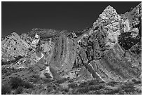 Candyland Hill. Grand Staircase Escalante National Monument, Utah, USA ( black and white)