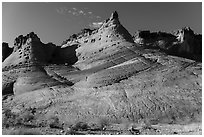 Sandstone spires. Grand Staircase Escalante National Monument, Utah, USA ( black and white)
