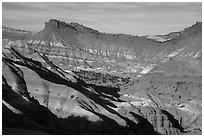 Colorful badlands, Old Paria. Grand Staircase Escalante National Monument, Utah, USA ( black and white)