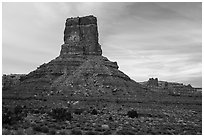 Buttes, Valley of the Gods. Bears Ears National Monument, Utah, USA ( black and white)