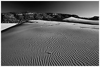 Rippled sand dune, late afternoon, Coral Pink Sand Dunes State Park. Utah, USA (black and white)