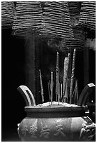 Incense stick and coils. Cholon, District 5, Ho Chi Minh City, Vietnam ( black and white)