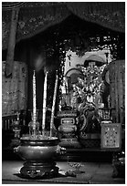 Altar. Ho Chi Minh City, Vietnam ( black and white)