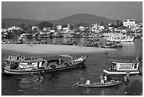 Entrance of Duong Dong Harbor. Phu Quoc Island, Vietnam ( black and white)