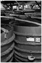 Fish Sauce distillery, Duong Dong. Phu Quoc Island, Vietnam (black and white)