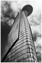 Bitexco Financial Tower. Ho Chi Minh City, Vietnam ( black and white)