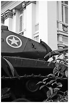 Soviet Tank, Museum of Ho Chi Minh City. Ho Chi Minh City, Vietnam (black and white)