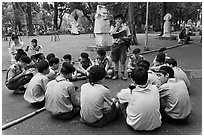 Boy Scouts, Cong Vien Van Hoa Park. Ho Chi Minh City, Vietnam ( black and white)