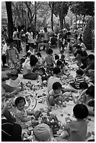 Playgound, Cong Vien Van Hoa Park. Ho Chi Minh City, Vietnam ( black and white)
