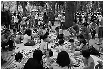 Babies and toddlers, Cong Vien Van Hoa Park. Ho Chi Minh City, Vietnam (black and white)
