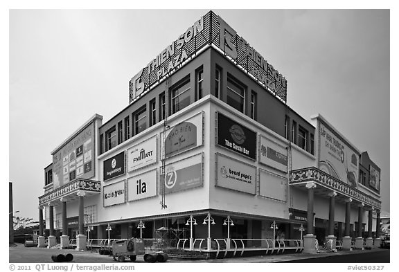 Thien Son Plaza, Phu My Hung, district 7. Ho Chi Minh City, Vietnam (black and white)