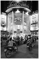 Saigon Center at night. Ho Chi Minh City, Vietnam ( black and white)