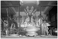 Deified General Quan Cong, Tam Son Hoi Quan Pagoda. Cholon, District 5, Ho Chi Minh City, Vietnam (black and white)