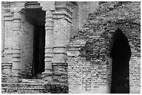 Detail of Cham Towers. Mui Ne, Vietnam (black and white)