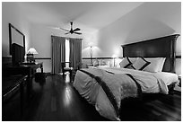 Victoria Can Tho Resort guestroom. Can Tho, Vietnam (black and white)