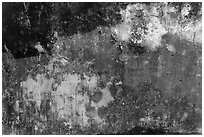Weathered wall with bullet holes, citadel. Hue, Vietnam (black and white)