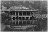 Xung Khiem Pavilion, Tu Duc Mausoleum. Hue, Vietnam (black and white)