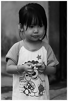 Young Girl, Thanh Toan. Hue, Vietnam (black and white)