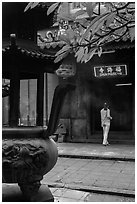 Entrance to Jade Emperor Pagoda, district 3. Ho Chi Minh City, Vietnam ( black and white)