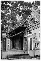 Le Van Duyet temple entrance, Binh Thanh district. Ho Chi Minh City, Vietnam ( black and white)