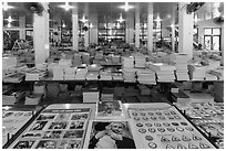 Bookstore, district 5. Ho Chi Minh City, Vietnam (black and white)