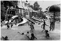 Dam Sen Water Park, district 11. Ho Chi Minh City, Vietnam ( black and white)