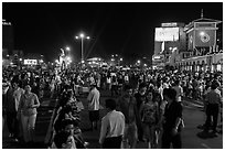 Street on New Year eve. Ho Chi Minh City, Vietnam ( black and white)