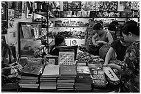 Souvenir store in central post office. Ho Chi Minh City, Vietnam (black and white)