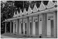 Huts, Hang Pagoda. Tra Vinh, Vietnam ( black and white)