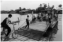River ferry. Can Tho, Vietnam (black and white)