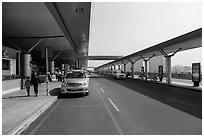 Departure level, Ho Chi Minh City Airport. Ho Chi Minh City, Vietnam ( black and white)