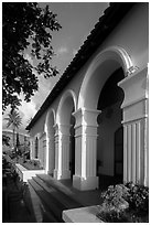 Colonial customs house, Con Son. Con Dao Islands, Vietnam ( black and white)