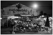 Market at night, Con Son. Con Dao Islands, Vietnam ( black and white)