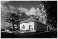 Old French Customs House, Con Son. Con Dao Islands, Vietnam ( black and white)